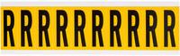 Brady 15 Series 1534-R Black on Yellow Vinyl Letter Label - Indoor / Outdoor - 7/8 in Width - 2 1/4 in Height - 1 15/16 in Character Height - B-946