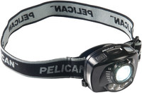 Pelican Black Headlamp - 200 Lumens 3 LEDs Red, White - (3) AAA 3 Modes - 10598
