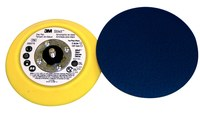 3M Stikit 05575 Medium Yellow PSA Disc Pad - 5 in Diameter - 3/4 in Thick - 5/16-24 External Thread Attachment