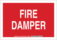 Brady B-555 Aluminum Rectangle Red Fire Equipment Sign - 10 in Width x 7 in Height - 127194