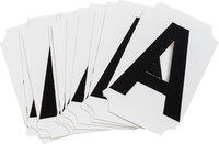 Brady Quik-Align 8210-A Black Vinyl Letter Label - Outdoor - 2 in Height - 2 in Character Height - B-933