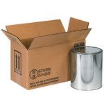 Shipping Supply Kraft 1 Gallon Haz Mat Boxes - 14.125 in x 6.875 in x 7.875 in - SHP-2213
