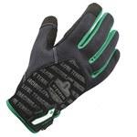Ergodyne ProFlex 812TX Black/Green Large Polyester Mesh Work Gloves - 17194