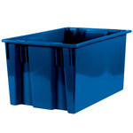 Blue Stack & Nest Containers - 26.625 in x 18.25 in x 14.875 in - SHP-3049