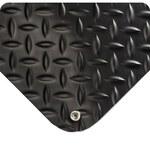 Wearwell 786 Black Nitricell/Vinyl Diamond-Plate Anti-Fatigue Mat - 4 ft Width - 75 ft Length - 715411-00180