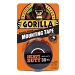 Gorilla Heavy Duty Black Mounting Tape - 1 in Width x 60 in Length - 60550