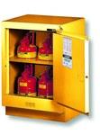 Justrite 15 gal Yellow Steel Hazardous Material Storage Cabinet - 24 in Width - 35 3/4 in Height - Floor Standing - 697841-12052