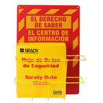 Brady Globally Harmonized System (GHS) Center - 20 in Length x 14 in Width x 4 1/2 in Height - Language English / Spanish - 121371