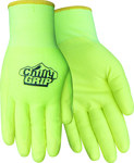 Red Steer A319 Green Large Nylon Work Gloves - Nitrile Palm Only Coating - A319-L