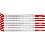 Brady Clip Sleeve SCN10-0 Black on White Nylon Clip-On Sleeve - 33100