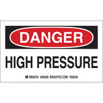 Brady 60309 Black / Red on White Paper Equipment Safety Label - 5 in Width - 3 in Height - B-235
