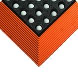 Wearwell Industrial WorkSafe 476 Black/Orange Rubber Anti-Fatigue Mat - 3 ft Width - 4 ft Length - 715411-00945