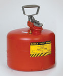 Eagle Red HDPE 3 gal Safety Can - 13 in Height - 12 1/2 in Overall Diameter - 048441-23531