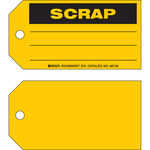 Brady 86758 Black on Yellow Cardstock Production Status Tag - 5 3/4 in Width - 3 in Height - B-853