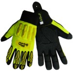 Global Glove Vise Gripster SG9977 Yellow 9 Synthetic Leather Work Glove - Rough Finish - SG9977/9