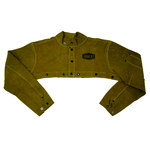 West Chester Ironcat 7000 Yellow Large Leather Welding Cape Sleeves - Fits 26 in Chest - 662909-003577
