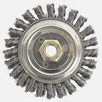 Weiler Dually Steel Wheel Brush 0.023 in Bristle Diameter - Arbor Attachment - 5 in Outside Diameter - 79803