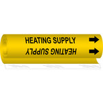 Brady 5701-O Black on Yellow Polyester Air & Duct Wrap-Around Pipe Marker - 8 in Width - 1/2 in Character Height - 5 in Length with Right Arrow - B-689