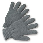West Chester 708SG Gray Large Cotton/Polyester General Purpose Gloves - Wing Thumb - 9.5 in Length