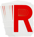 Brady Quik-Align 5160-R Red Vinyl Letter Label - Outdoor - 4 in Height - 4 in Character Height - B-933