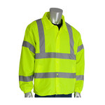 PIP 333-WBLY Hi-Vis Lime Yellow Large Polyester Cold Condition Jacket - 2 Pockets - Fits 51.2 in Chest - 28.9 in Length - 616314-07416