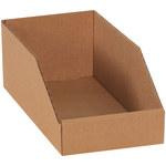 Kraft Open Top Bin Boxes - 12 in x 6 in x 4.5 in - SHP-3087