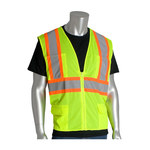 PIP Lime Yellow Small Polyester Mesh High-Visibility Vest - 6 Pockets - Fits 45 in Chest - 24 in Length - 616314-20474