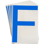 Brady Toughstripe 121725 Blue Polyester Letter Label - Indoor - 6 in Width - 8 in Height - 8 in Character Height - B-514