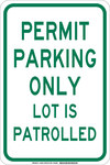 Brady B-555 Aluminum Rectangle White Parking Restriction, Permission & Information Sign - 12 in Width x 18 in Height - 129594