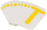 Brady Quik-Align 5060-T Yellow Vinyl Letter Label - Outdoor - 2 in Height - 2 in Character Height - B-933