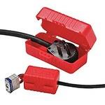 Honeywell E-Safe 220 V, 550 V Red Electrical Plug Lockout - 12 in Width - HONEYWELL LP550