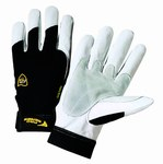 West Chester Ironcat 86550 Large Grain Goatskin Leather/Spandex Work Gloves - 9 in Length - 86550/L