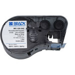 Brady MC-125-342 Black on White Polyolefin Continuous Thermal Transfer Printer Label Cartridge - 0.235 in Width - 7 ft Length - B-342
