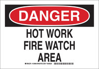 Brady B-555 Aluminum Rectangle White Fire Awareness Sign - 10 in Width x 7 in Height - 126906