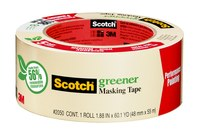 3M Scotch 2050 Greener Masking Tape - 0.94 in Width x 60.1 yd Length - 05618