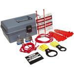 Brady Prinzing Gray Polyethylene Lockout/Tagout Kit - 5 in Depth - 12 in Width - 7 in Height - 754476-45600