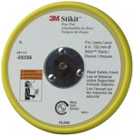 3M Stikit 05556 Yellow Stikit Disc Pad - 6 in Diameter - 3/8 in Thick - 5/16-24 External Thread Attachment