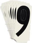 Brady Quik-Align 6450-9 Black Vinyl Number Label - Outdoor - 2 in Height - 2 in Character Height - B-933