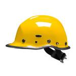 PIP Pacific R5 Yellow Kevlar Rescue Helmet - 3-Point Strap Type - 6-Point Suspension - Ratchet Adjustment - 616314-14898