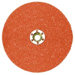 3M 787C Ceramic Orange Quick Change Fibre Disc - Fibre Backing - 80+ Grit - 5 in Diameter - 89652