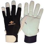 Impacto Air Glove BG413 Black/White Large Leather/Nylon/Spandex Work Gloves - BG41340