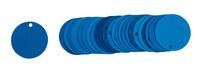 Brady 49907 Blue Circle Aluminum Blank Valve Tag - 2 in Dia. Width - B-906