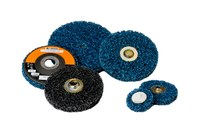Standard Abrasives Non-Woven S/C Silicon Carbide SC Quick Change Cleaning Disc - X Weight - Coarse - 4 1/2 in Diameter - 5/8-11 Center Hole - 843890