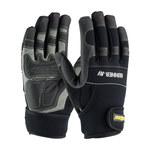 PIP Maximum Safety Gunner AV 120-4400 Black/Gray Large Cotton/Lycra/Neoprene/Nylon/Nylon/PVC/Rubber/Synthetic Leather Work Gloves - 9.8 in Length - 120-4400/L