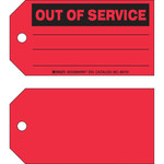 Brady 86751 Black on Red Cardstock Maintenance Tag - 5 3/4 in Width - 3 in Height - B-853