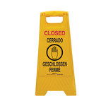Brady Polypropylene V Shape Yellow Floor Stand Sign x 24.5 in Height - 104811