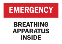 Brady B-302 Polyester Rectangle White Breathing Apparatus Sign - 10 in Width x 7 in Height - Laminated - 85343