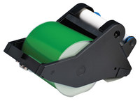 Brady 142766 White on Green Vinyl Continuous Thermal Transfer Printer Label Cartridge - 4 in Width - 90 ft Length - B-595
