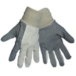 Global Glove C80D Black/White Canvas/Cotton Work Gloves - Wing Thumb - C80D1