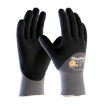 PIP MaxiFlex Ultimate 34-875 Black/Gray Large Nylon Work Gloves - EN 388 1 Cut Resistance - Nitrile Palm & Over Knuckles Coating - 8.9 in Length - 34-875/L